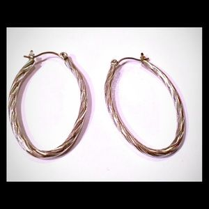 Jewelry - Sterling silver rope hoops